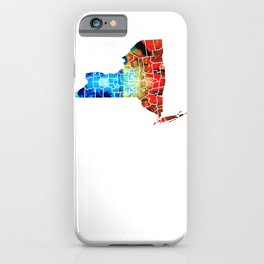 New York - Map By Sharon Cummings iPhone Case