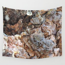 TEXTURES: Weeping Big Cone Pine Bark Wall Tapestry