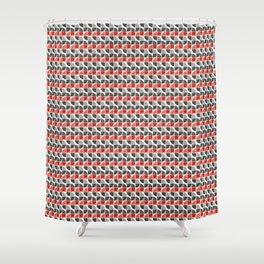Split Circles S Drop Orange Shower Curtain