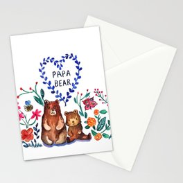 Father's Day Papa Bear Stationery Cards