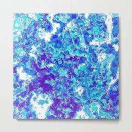 Blue Abstract Design Metal Print