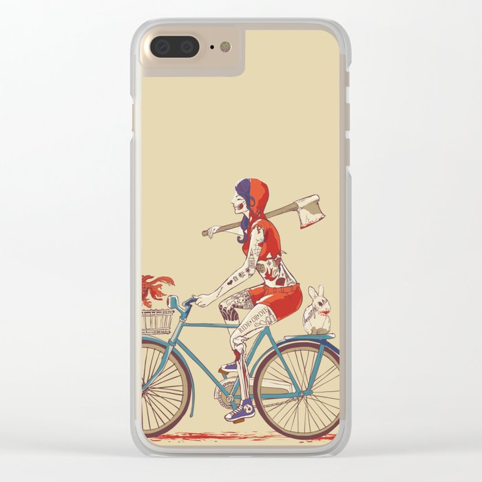 Death Ride Clear iPhone Case