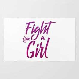 Fight Like a Girl Rug