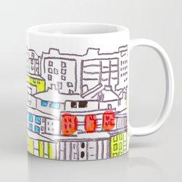 Suburb - city drawing Coffee Mug
