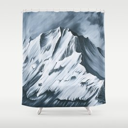 Grey Mountain Shower Curtain