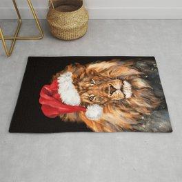 Christmas King Lion Rug