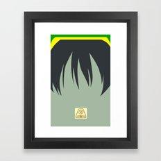 Toph Bei Fong Framed Art Print