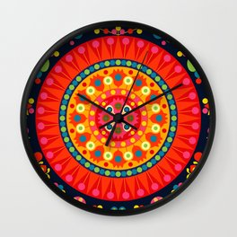 Wayuu Tapestry - I Wall Clock