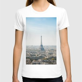 EIFFEL TOWER PARIS AERIAL PHOTOGRAPHY DURING DAYTIME T-shirt