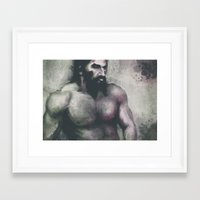"dragon age inquisition Framed Art Prints featuring Dragon Age Inquisition - Blackwall by Barbara ""Yuhime"" Wyrowińska"