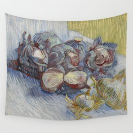 Red Cabbages and Onions Wall Tapestry