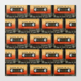 awesome transparent mix cassette tape vol 1 Canvas Print