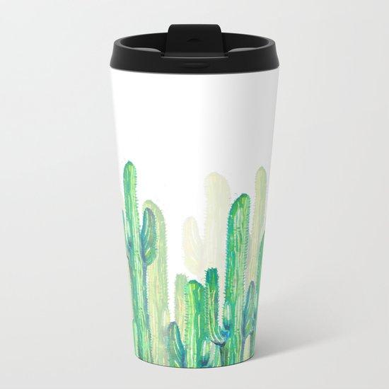 cactus vertical Metal Travel Mug