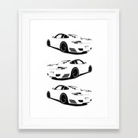 porsche Framed Art Prints featuring porsche  by Fish