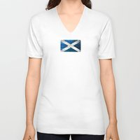 scotland V-neck T-shirts featuring Scotland by Arken25
