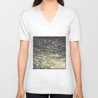 sparkles V-neck T-shirts featuring Sparkles  by Julia Kovtunyak