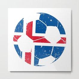 Iceland Soccer  TShirt Football Shirt Football Player Gift Idea  Metal Print
