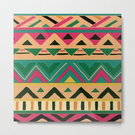 African Pattern No9, Warm Colors Metal Print