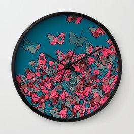 Flutterflies Wall Clock