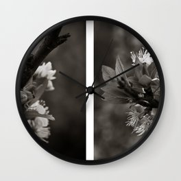 White Profusion  Wall Clock