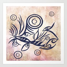 Tribal Tattoo Traveler Art Print