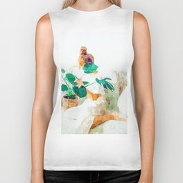 Me + Monstera #painting #minimal Biker Tank