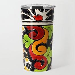 Beautiful Red and Green Talavera Travel Mug