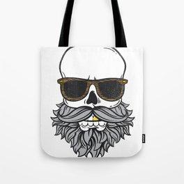Bearded Skull Tote Bag