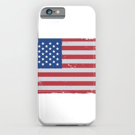 American flag worn iPhone Case