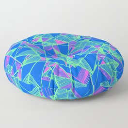 Blue Geometric pop art cool Floor Pillow