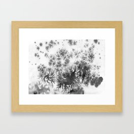 Grey grows and spreading Framed Art Print