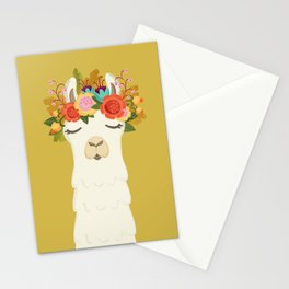 LLama Flowers Stationery Cards
