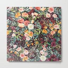 Fall Floral Metal Print