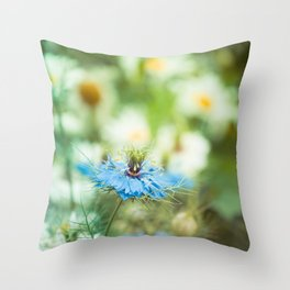 Fairy-tale Flowers I Throw Pillow