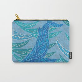 Watercolor Whale Dive Carry-All Pouch