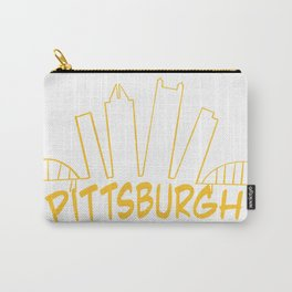 Pittsburgh Skyline Gold Carry-All Pouch