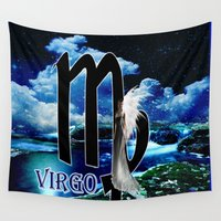 virgo Wall Tapestries featuring Virgo by LBH Dezines