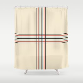 Filigree Fine Lined Cross Shower Curtain