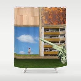 An der Schwelle zur Freiheit · a day with Magritte 2 Shower Curtain