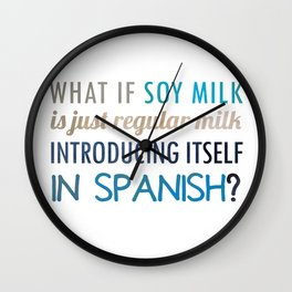 What if soy milk... Wall Clock