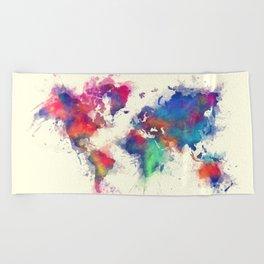 world map 105 #worldmap #map Beach Towel