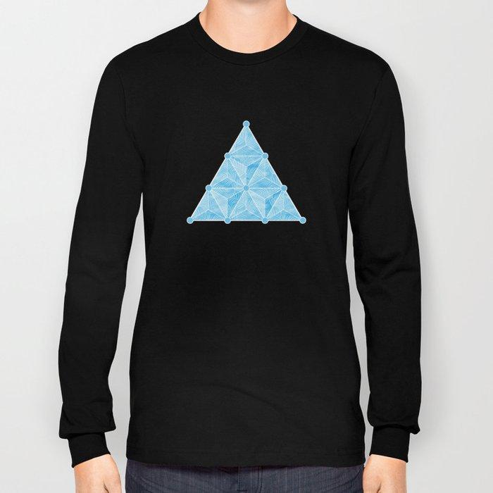 Geodesic Palm_Blue Sky Long Sleeve T-shirt