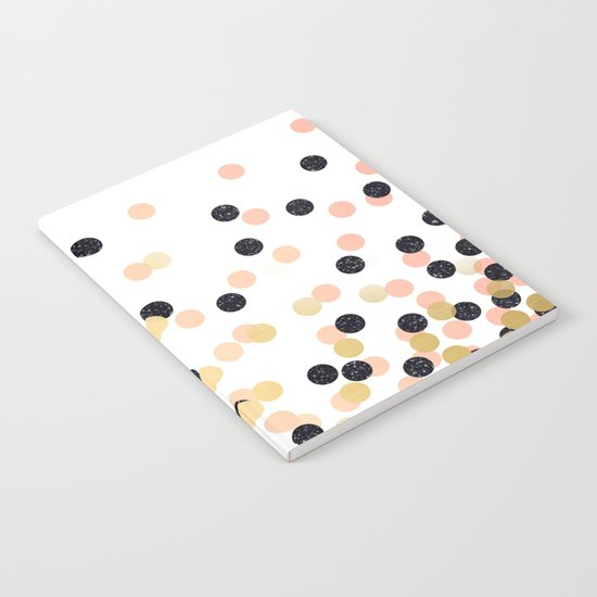 Pink & Black Polka Dots Notebook