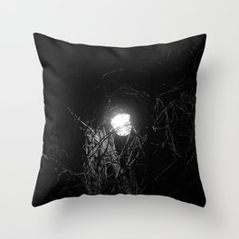 Lamppost and vine Throw Pillow