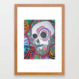 Colorful Shape Skull Framed Art Print