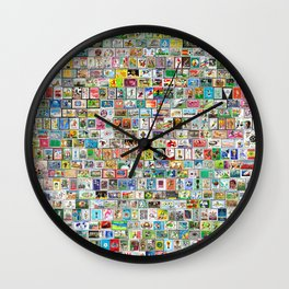 The Soccer Stamp Wall Clock