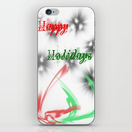 Happy Holidays iPhone Skin