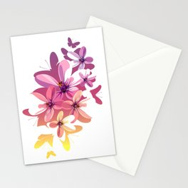 Flower Butterflies Stationery Cards