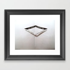 Cannotsee Framed Art Print