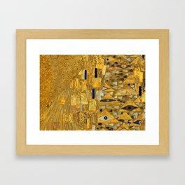 All the World is Gold symbolist portrait painting by Gustav Klimt Framed Art Print